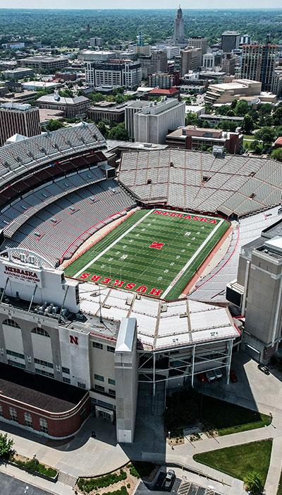 Nebraska Cornhuskers Stadium in Lincoln, NE